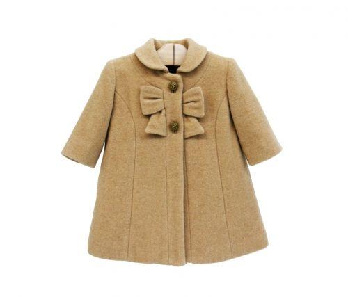 752e03bd9 Abrigo niña Sanmar--Abrigo de niña con cierre de botones y lazada en el  pecho.Composición: 70% lana, 20% naylon, 10% cachemira.