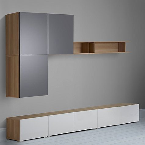 House by John Lewis Mix it 300cm Floor and Floating Units with Shelf ...
