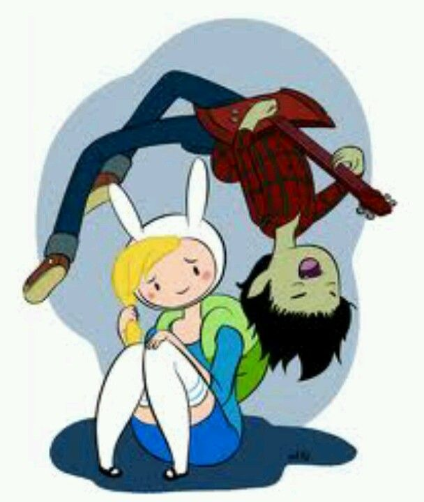 "Fionna and Marshall Lee. Cant wait for their new episode ""Bad Little Boy"" to come out this month!!! They say Marshall will be a main character... yeeeesssssss"
