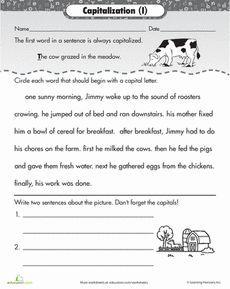 Image result for capitalization worksheets 2nd grade pdf ...