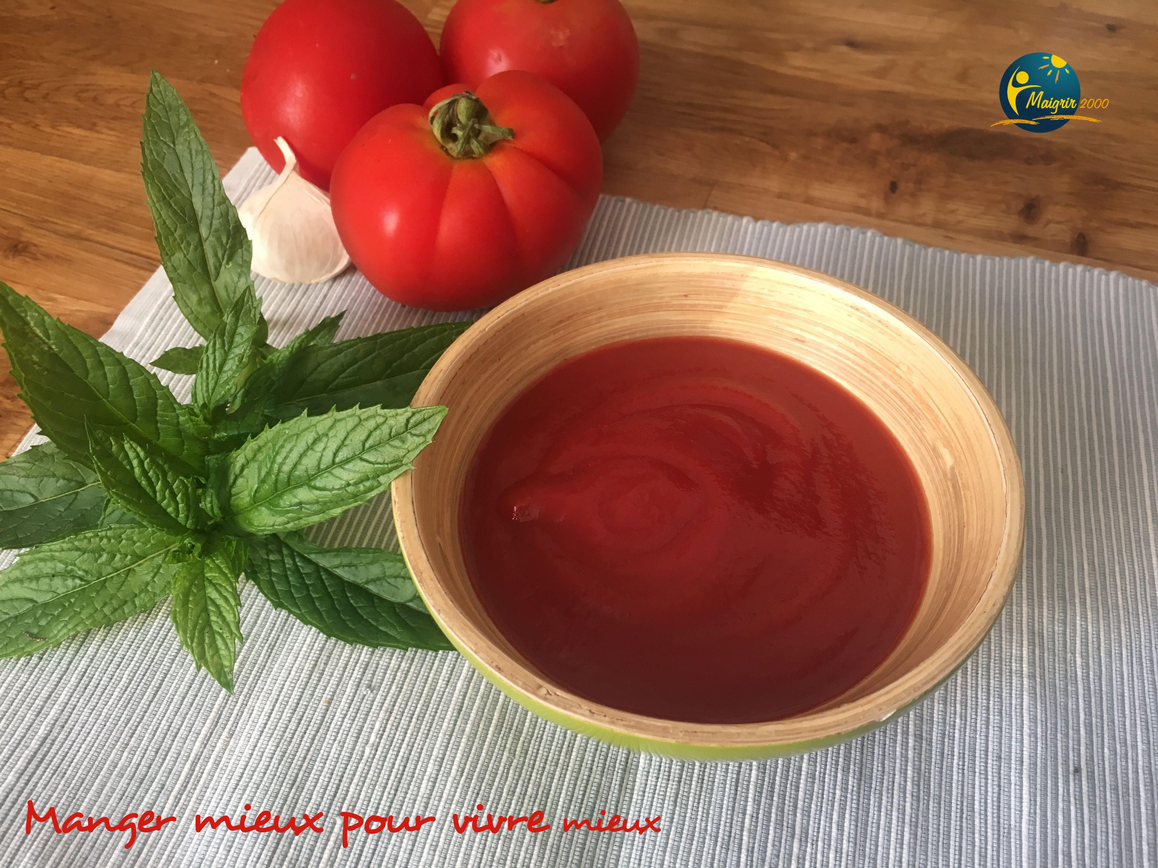 Soupe épicée à la tomate Maigrir 2000 : Une soupe légère