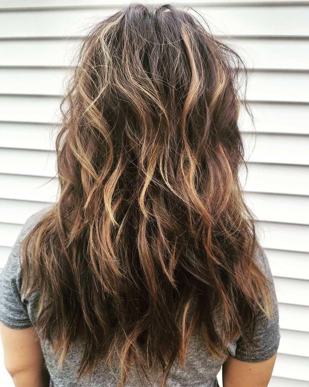 Frizzy Choppy Long Shag Hairstyle Long Shag Haircut Long Shag Hairstyles Long Hair Styles