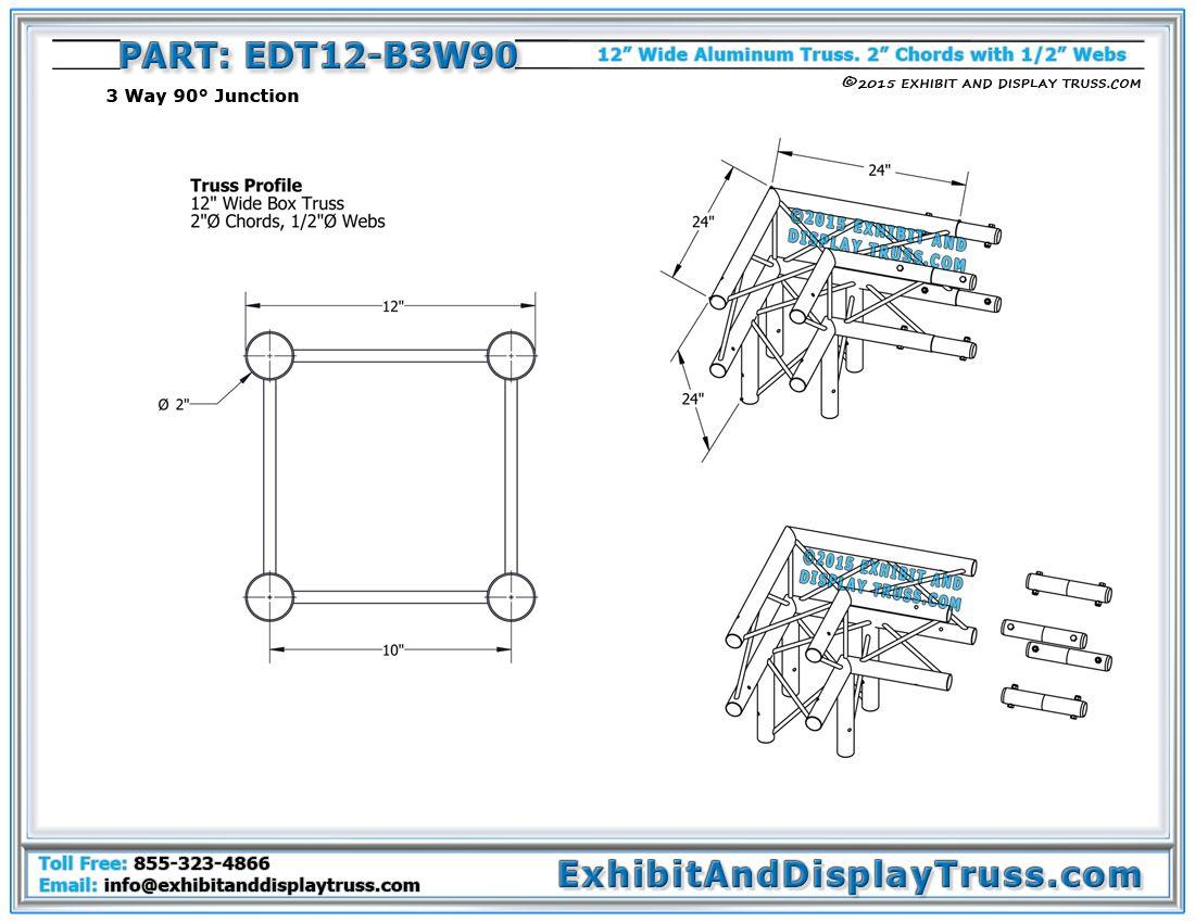 49129734110cb96fc6dc286b9426ba18 12\u2033 wide 3 way 90° box junction 12\