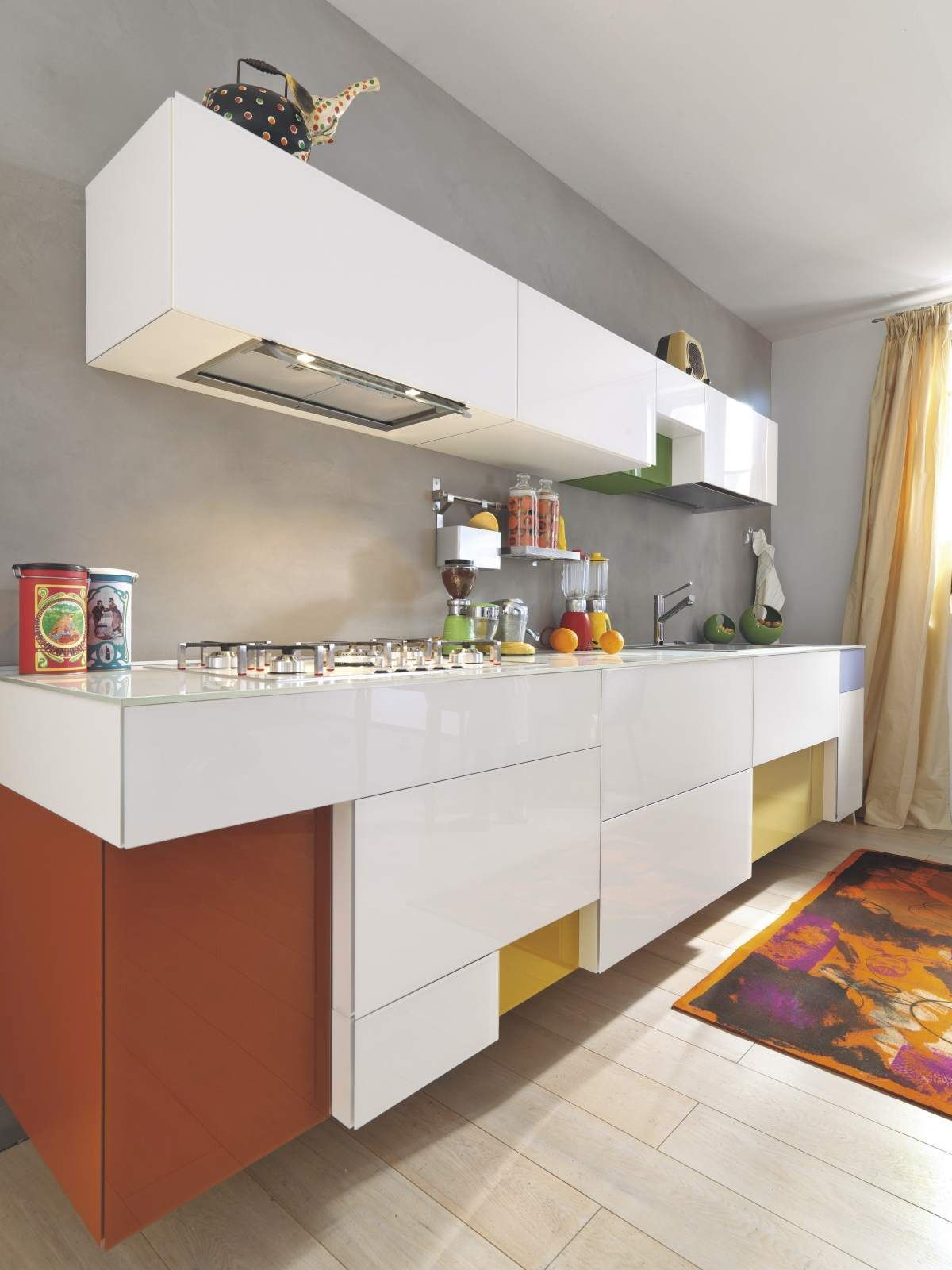 Kitchen, modern, colorfull