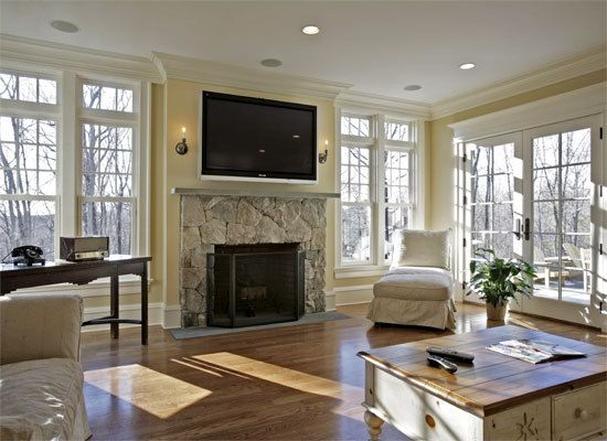 Tips For Hanging A Flat Screen Tv Over A Fireplace Tv Above Fireplace Family Room Design Living Room With Fireplace