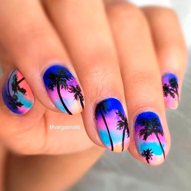 27 Cool Tropical Nails Designs for Summer - 27 Cool Tropical Nails Designs For Summer Tropical Nail Designs