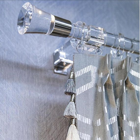 Beautiful And Modern Glamorous Square Lucite Curtain Rings Fits
