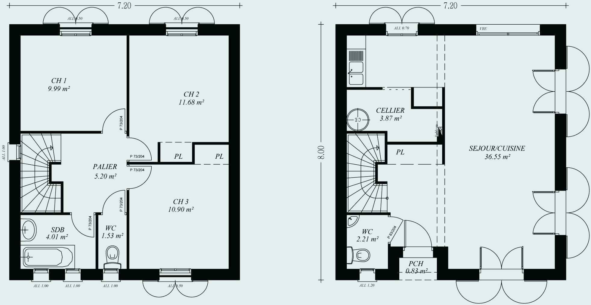 Plan Maison A Etage 100m2 House Plans How To Plan Building A House