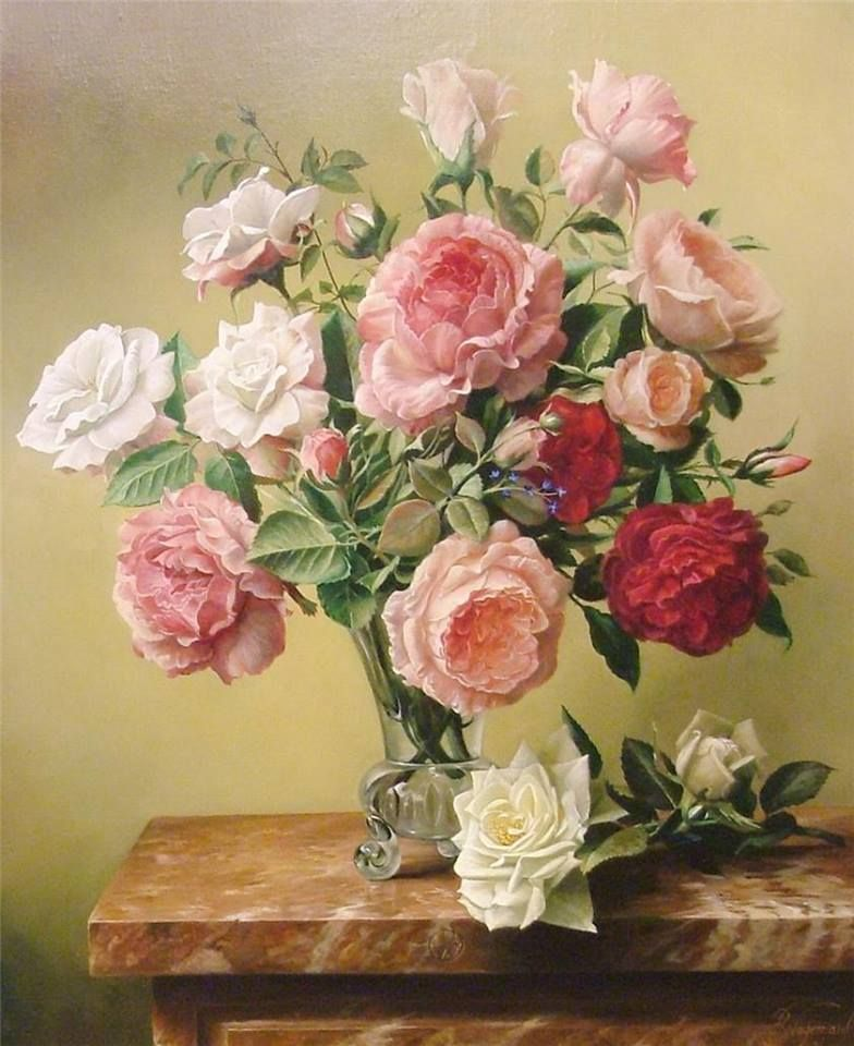 Flower Painting Rose Painting Oil Painting Flowers