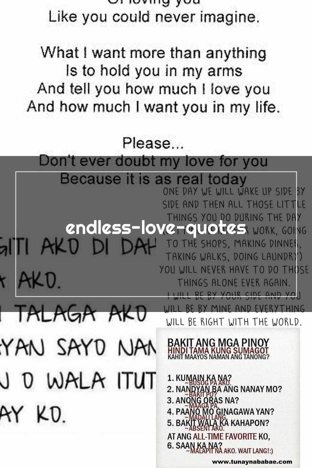 Tagalog Love Quotes Endless Love Quotes