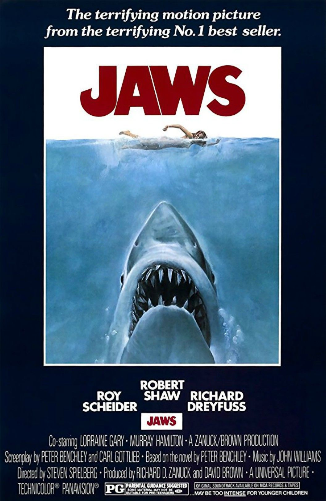 Jaws 1975 Klassische Filmplakate Weisser Hai Filme