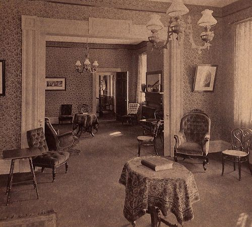 1920s Parlor Too Posh But The Right Idea For Spacing Size Of Furniture Victorian CurtainsVictorian RoomsFolk VictorianVictorian FarmhouseVictorian