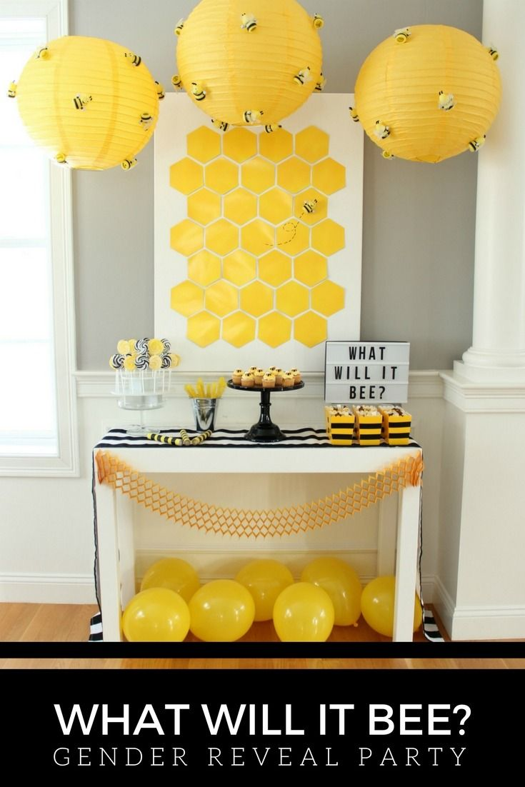 What Gender Will Baby BEE Weheartparties Created A Bee Themed Reveal Party