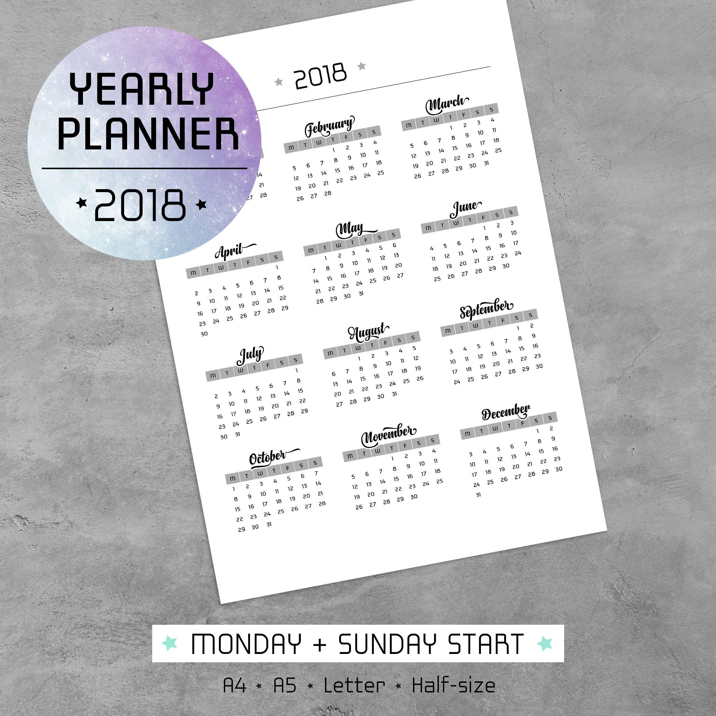 Imprima su propio calendario 2018 utilizando nuestra plantilla PDF ...