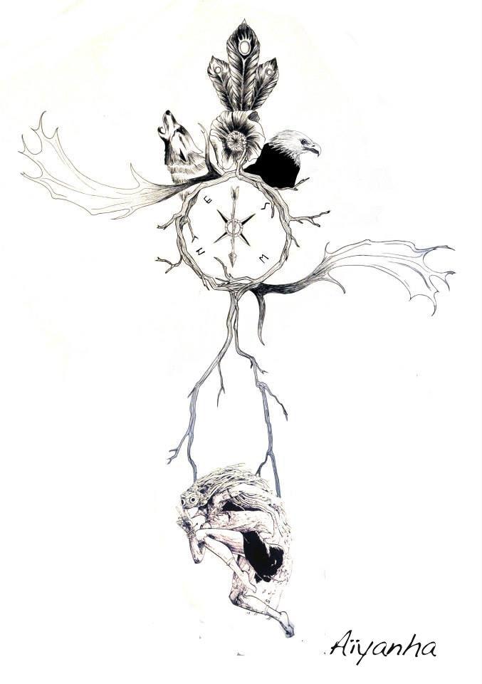 Recherche tatouage rose des vent illustrations - Tatouage rose des vents ...