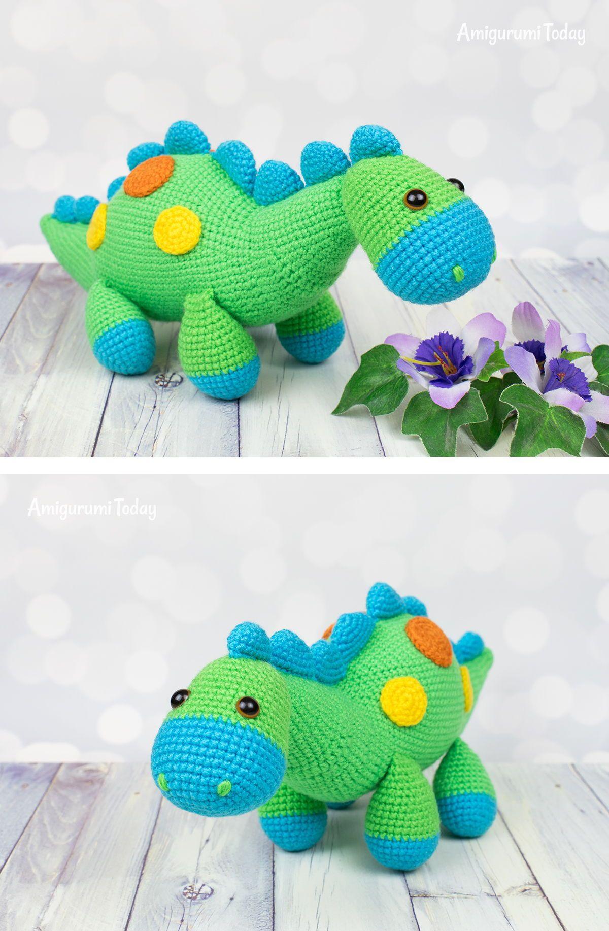 My Friend Dinosaur Dino Amigurumi Crochet Pattern | 1834x1200