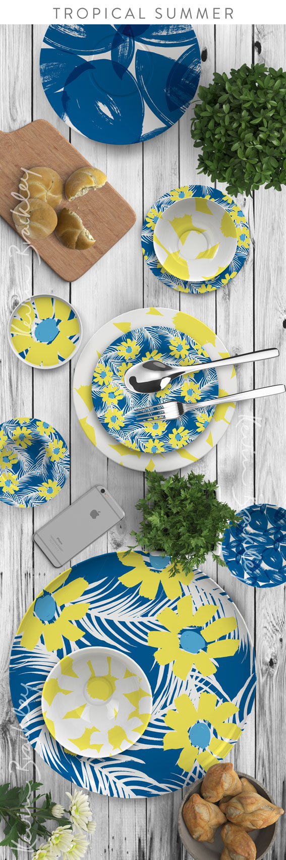 Home decor in my Tropical Summer collection