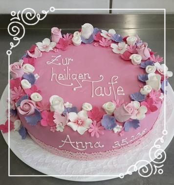 Tauftorte Vintage Rosa Madchen Zuckerrosen Tauftorte Mit Fondant Christening Cake Taufe Kuchen Taufe Kuchen Madchen Torte Taufe