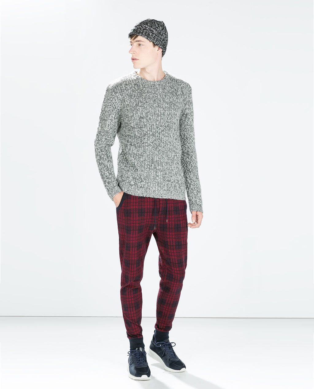 07d73c6e ZARA - MAN - CHECKED TROUSERS | Fashion Zara | Mens plaid pants ...