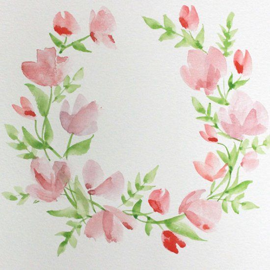 Paint with me learn how to create this watercolor floral for Easy watercolor for beginners