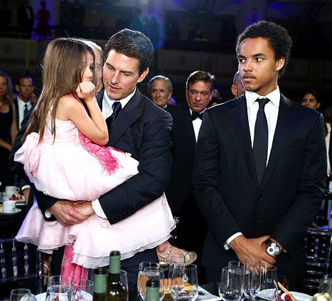 Aww! Tom Cruise Brings Suri as Date to Friars Bash.  His son Connor looks really annoyed with this child.