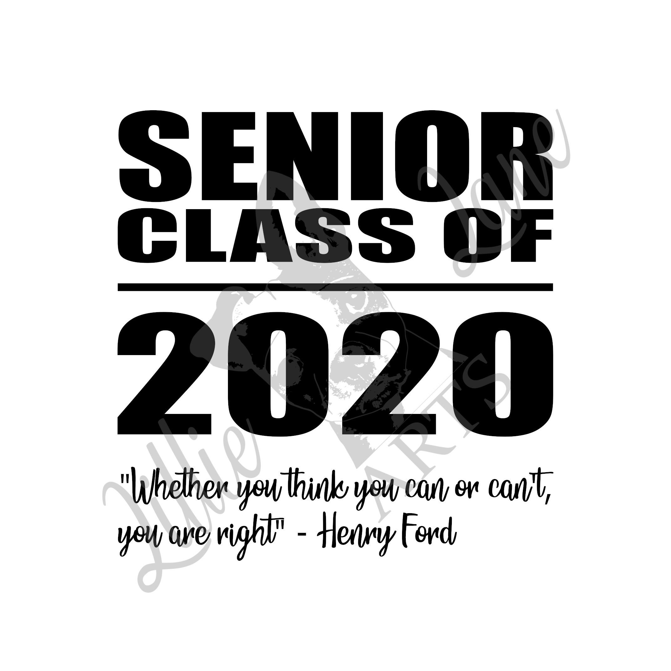 Senior Class of 2020 / EPS jpg PNG SVG File Clipart Vector