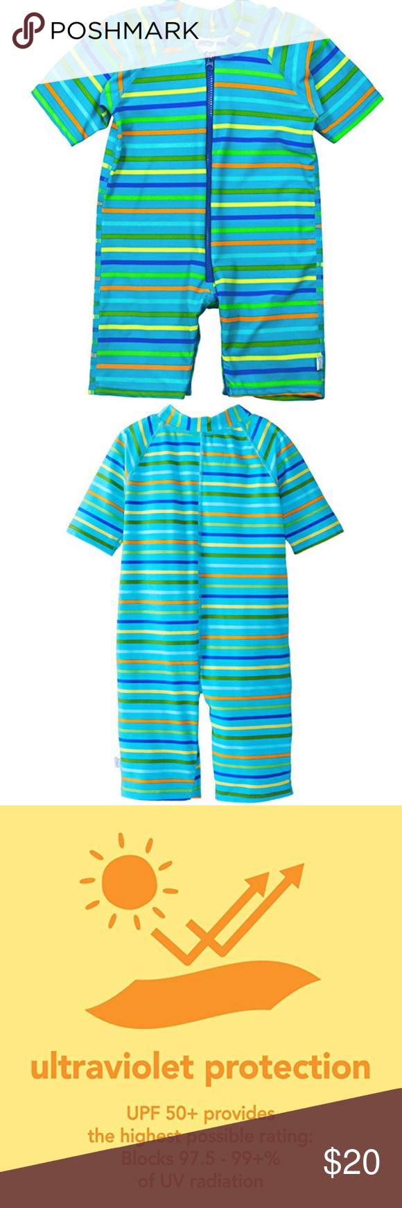 d8159ff3 Like New iPlay Baby Onepiece Swimsuit 12 month The Swim Sunsuit provides  all-day,