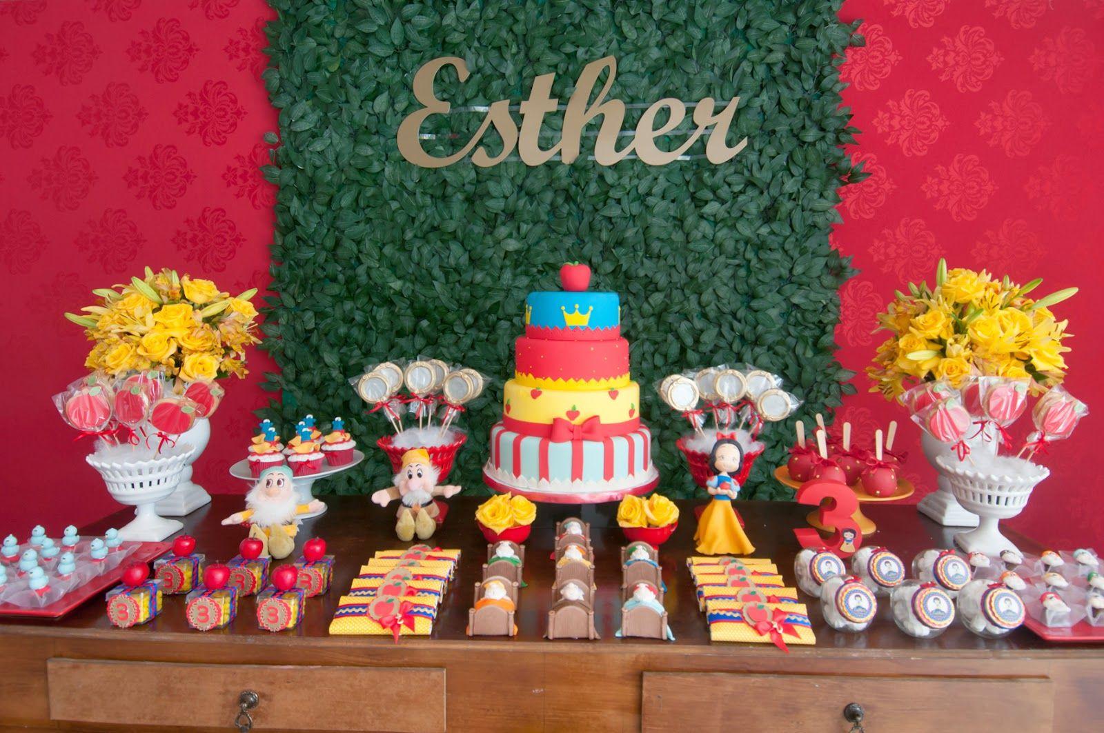 Festa Branca De Neve Para Esther 3 Anos Com Imagens Festa