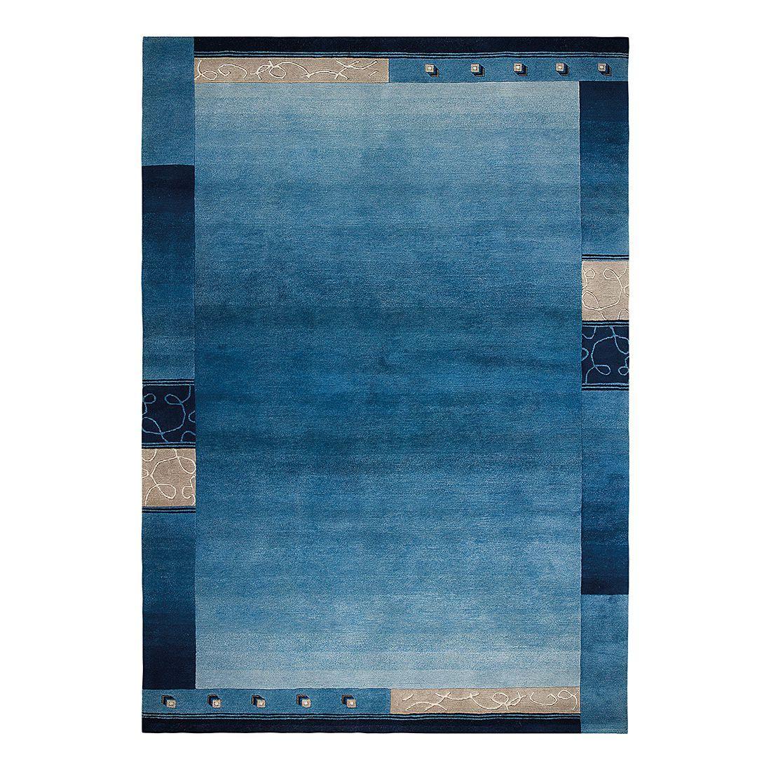Teppich Super Q - Wolle/ Blau - 120 cm x 180 cm, Luxor living
