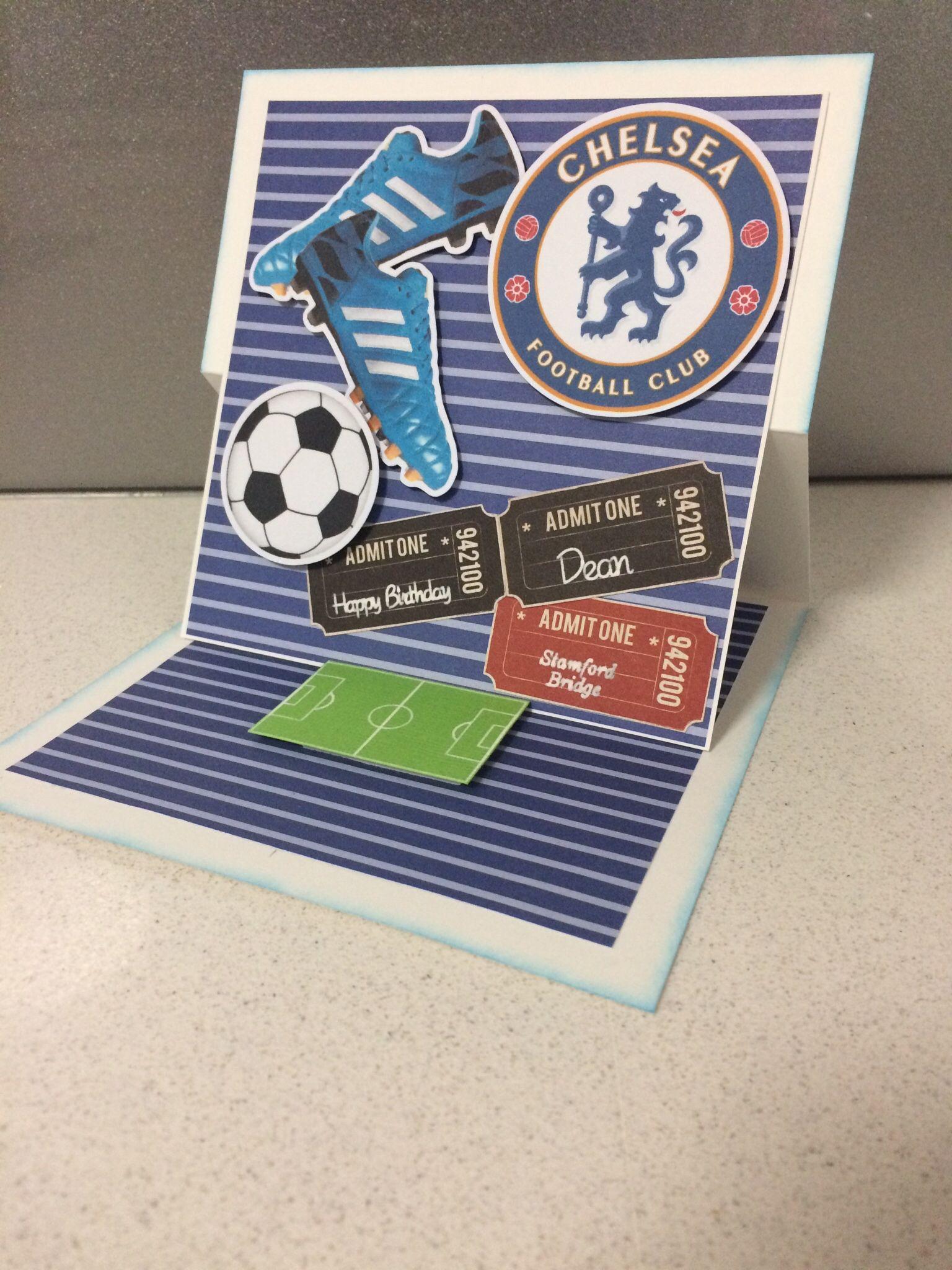 Chelsea Football Club Birthday Card Birthday Cards Diy Birthday Cards Cards Handmade