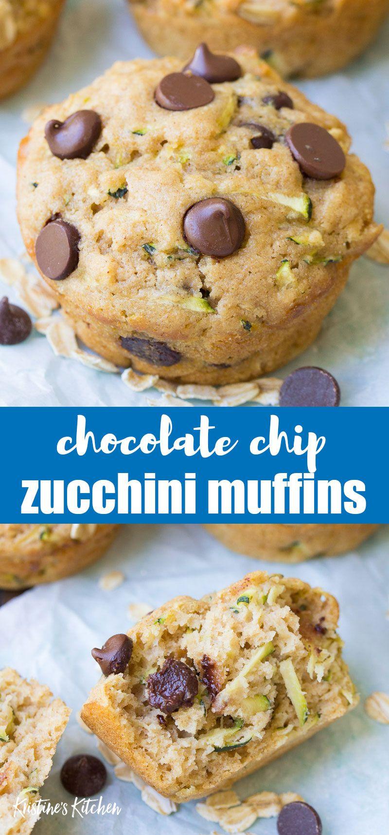 Zucchini Chocolate Chip Muffins In 2020 Zucchini Chocolate Chip Muffins Chocolate Chip Muffins Chocolate Recipes