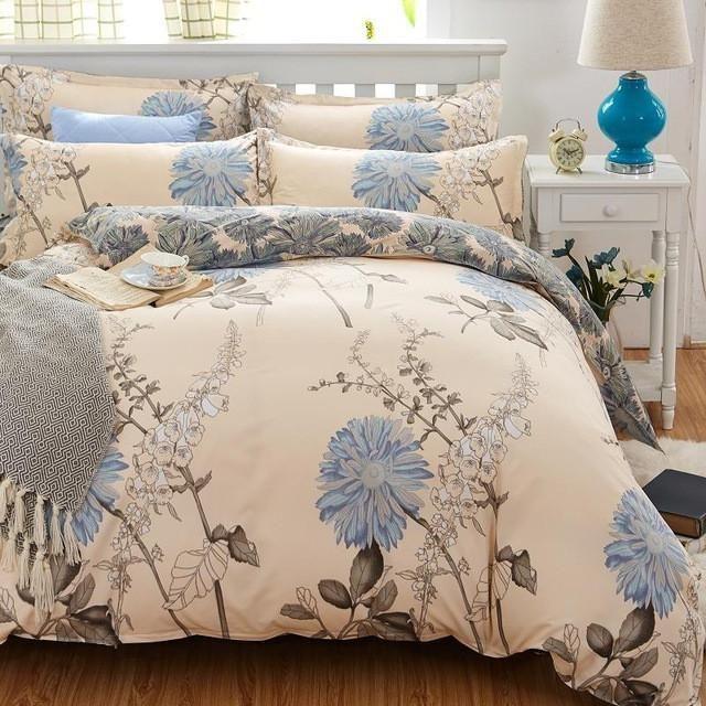 Unihome Promotion Bedding Bed Linen 3/4Pcs Bedding Set Duvet Set Bed Set Bed Linen Tybo90D