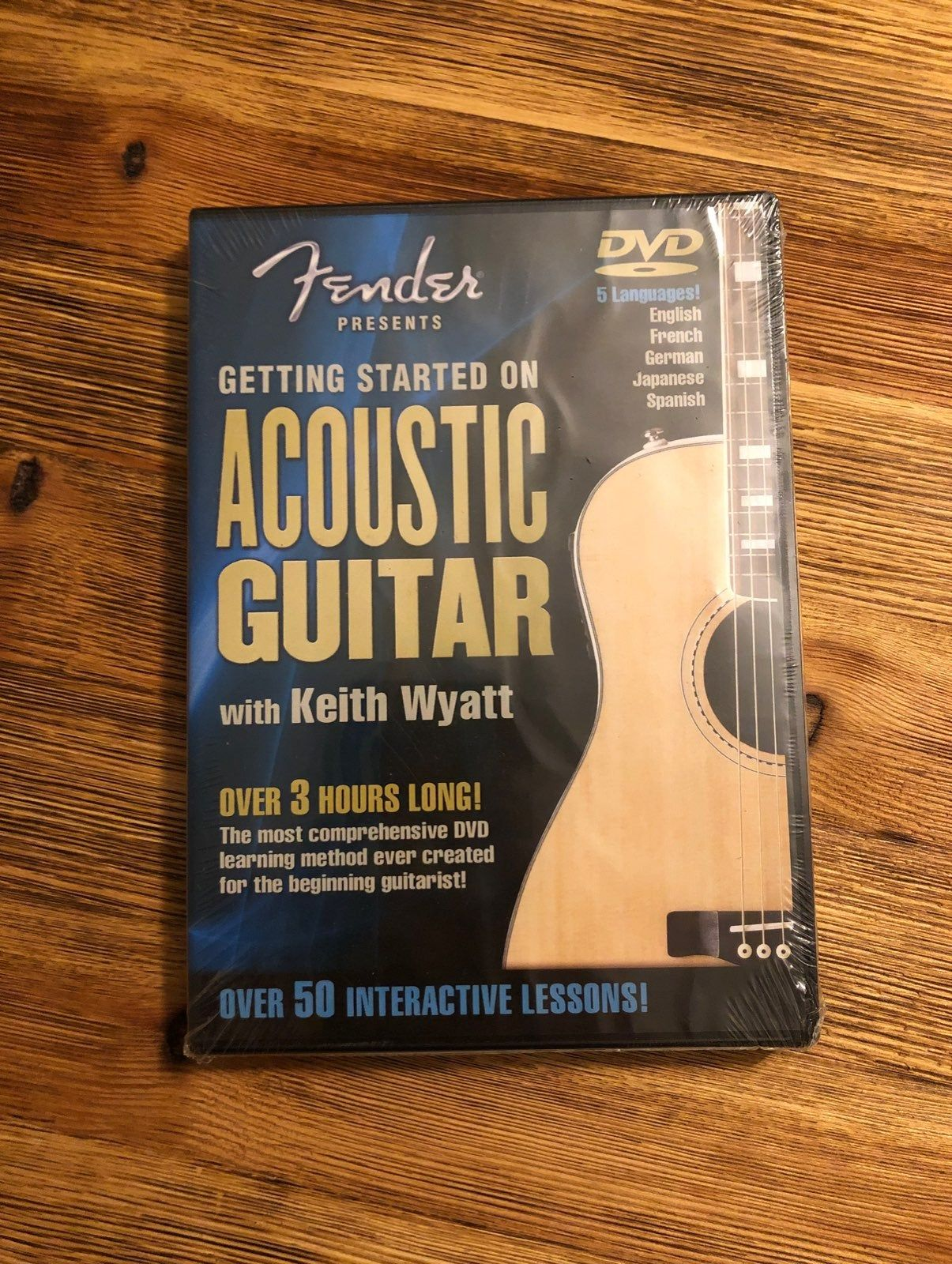 Brand New Never Opened Fender Acoustic Guitar Lessons Dvd With Keith Wyatt Over 3 Hours Long Over 50 Le Fender Acoustic Guitar Guitar Lessons Fender Acoustic