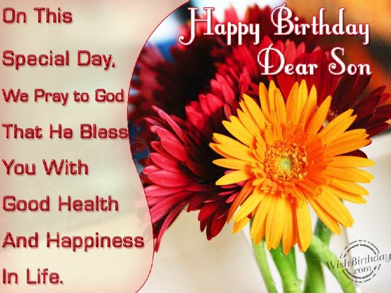 Happy Birthday Dear Son Birthday greetings Pinterest – Birthday Greeting for Son