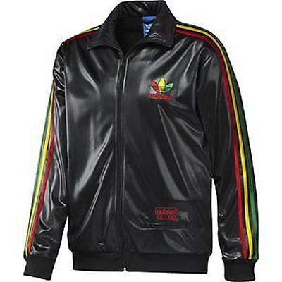 New Mens Adidas Originals C62 Chile 62 Black Jamaica Tracksuit Top Jacket S  M L