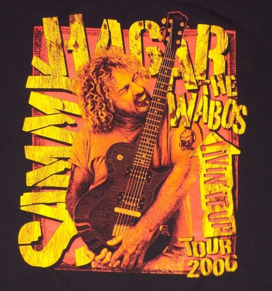 Sammy Hagar Cabo Wabos Livin It Up 2006 Tour Black Xl Concert T Shirt Van Halen Anvil Graphictee Concert Tshirts Van Halen Great T Shirts