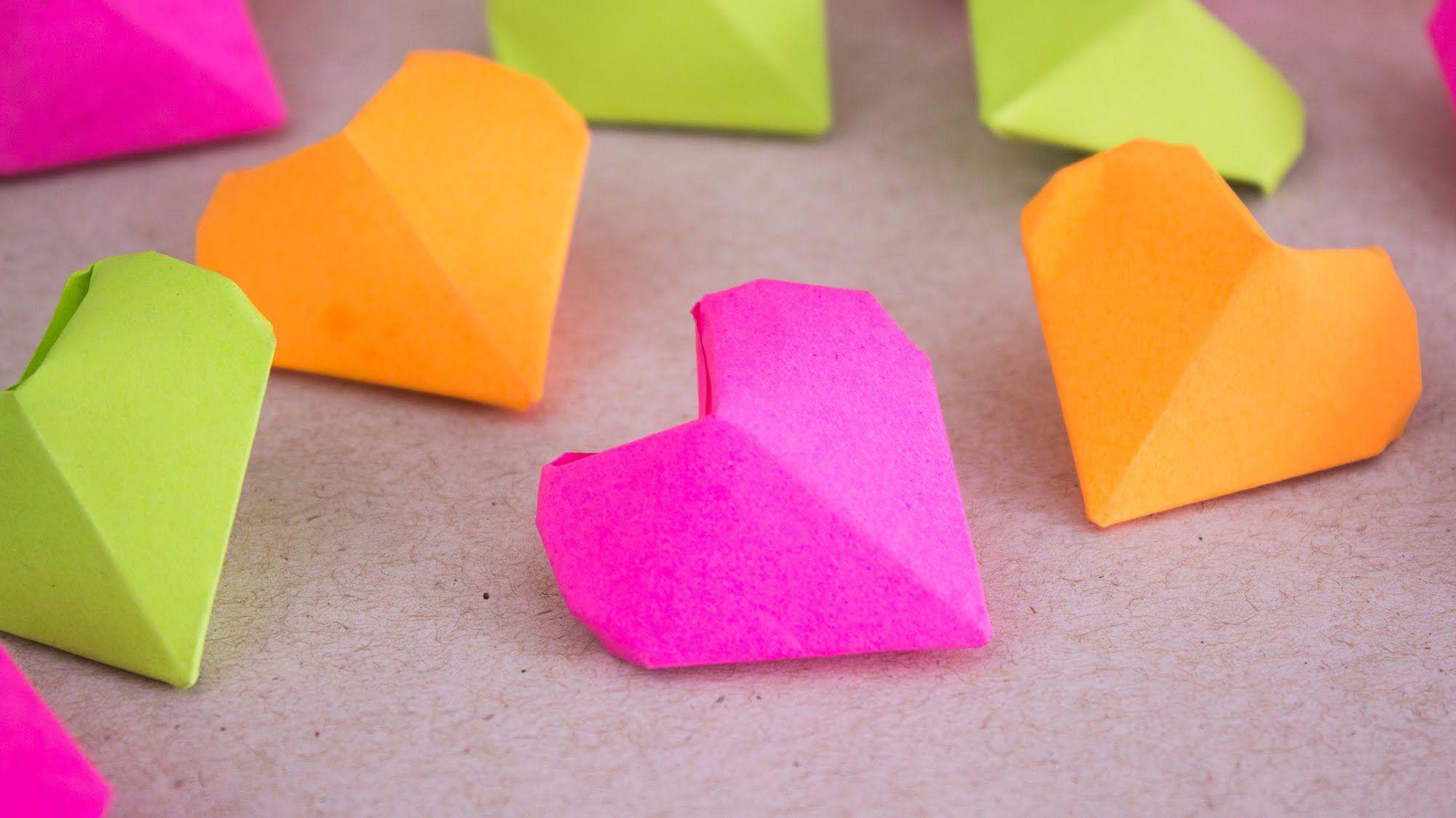Como hacer Mini Corazones Diamante de papel (◜௰◝) / Jeguridos ...