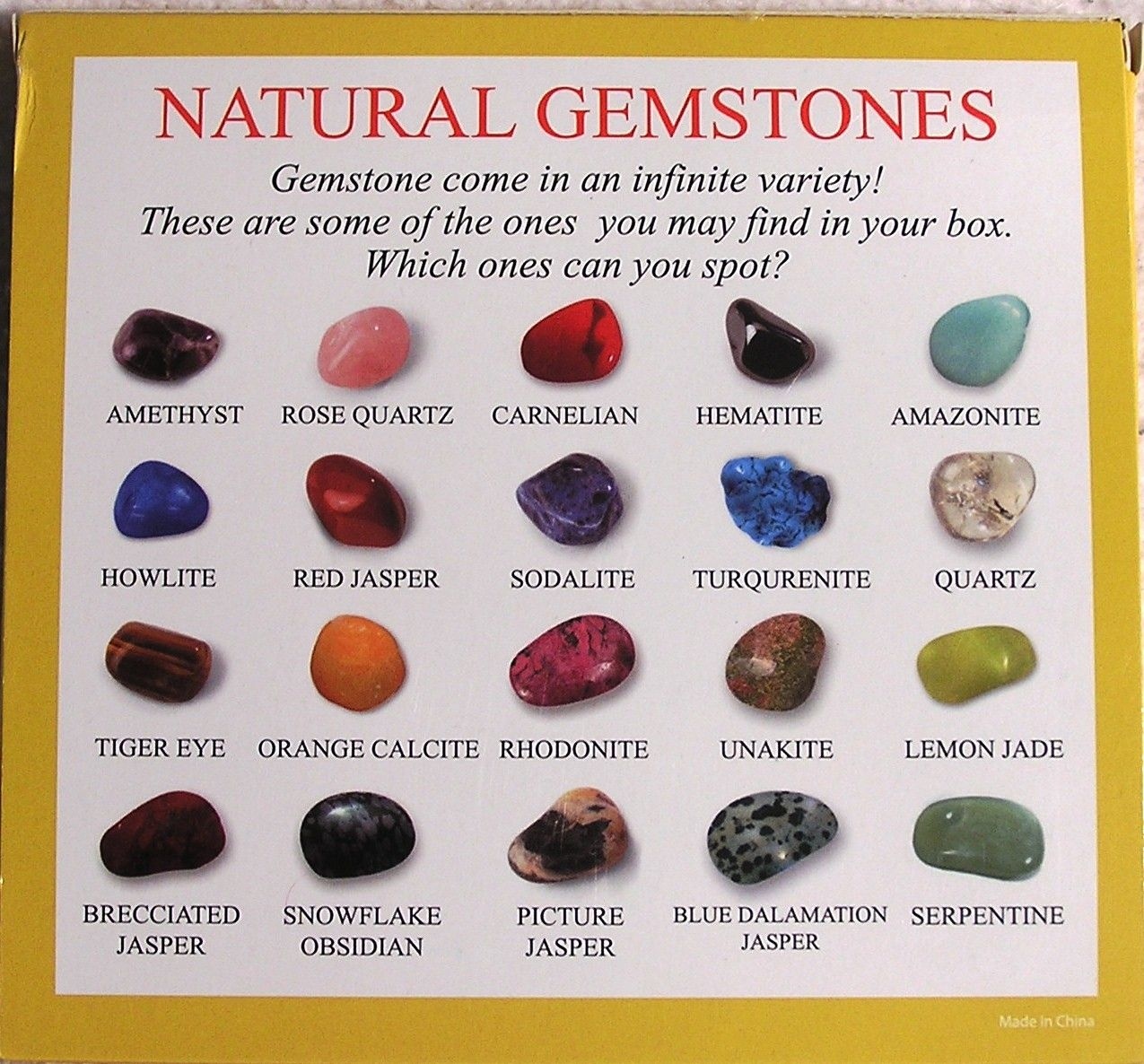 Natural Gemstones Selection Box of 25 Samples | Learn Heaps ...