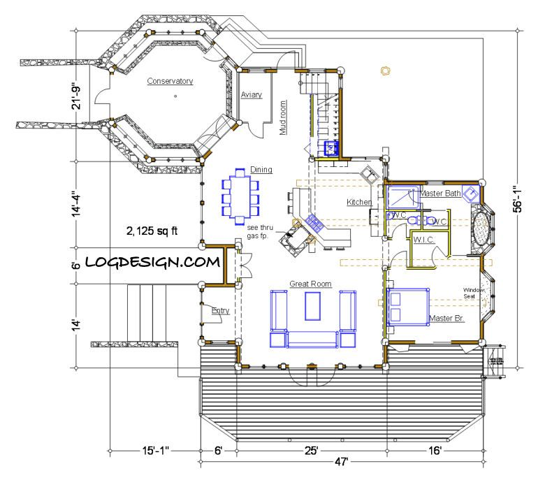 The Conservatory Taron Design Inc Log Home Plans Post And Beam Floor Plans Floor Plans Unique House Plans
