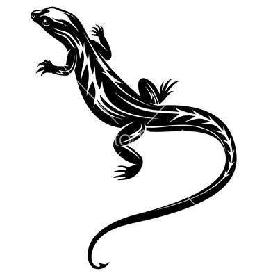 Black fast lizard reptile vector | Iguana | Pinterest