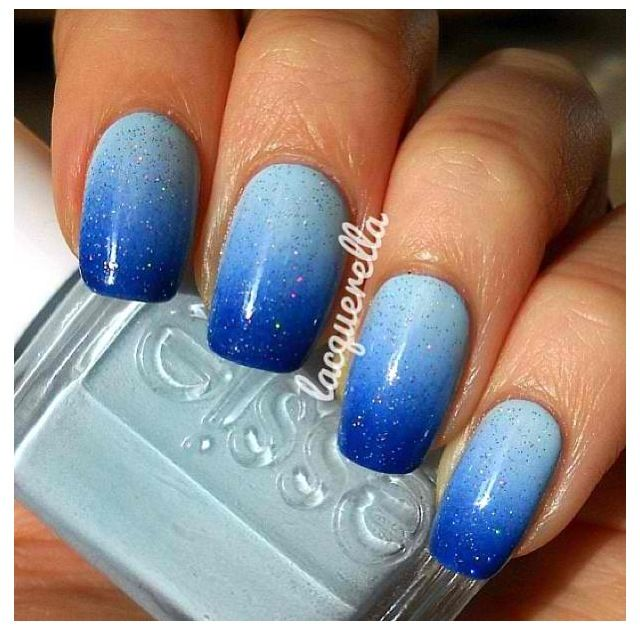 blue nails/Like this w/a tinge of greenish... | My Style | Pinterest ...