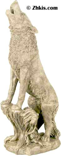 Large Howling Wolf Statue Gardens Wolves And A Wolf
