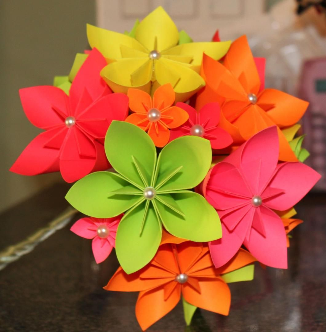 Folded Paper Flowers These Are Really Beautiful And Might Just Be