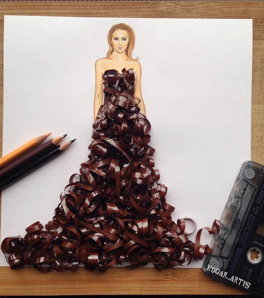 Creative Fashion Designs Art Drawing Creativity Design Illustration Art Girl Fashion Design Drawings Art Dress