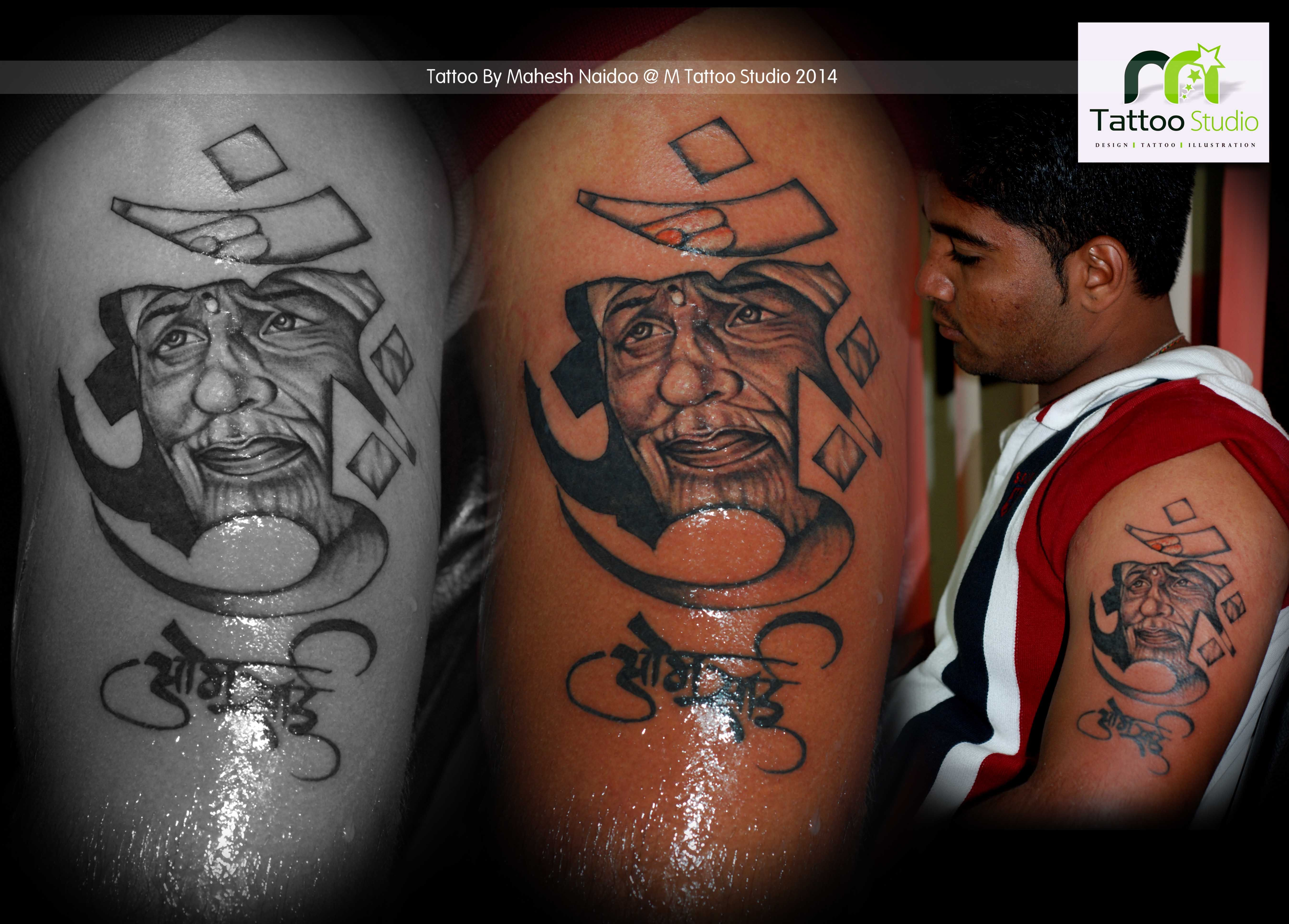 Sai baba tattoo on arms Tattoos, M tattoos, Tattoo studio