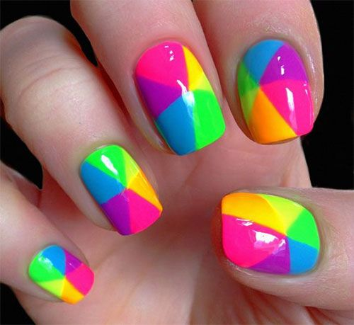 Hottest Summer Nail Art Collections - Hottest Summer Nail Art Collections Summer Nail Art, Neon Nails