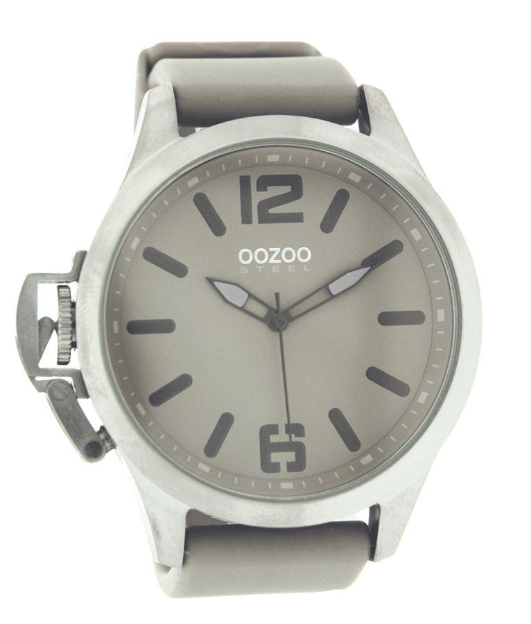 Oozoo Steel OS278 XXL Damenuhr silber grau   Damenuhr silber