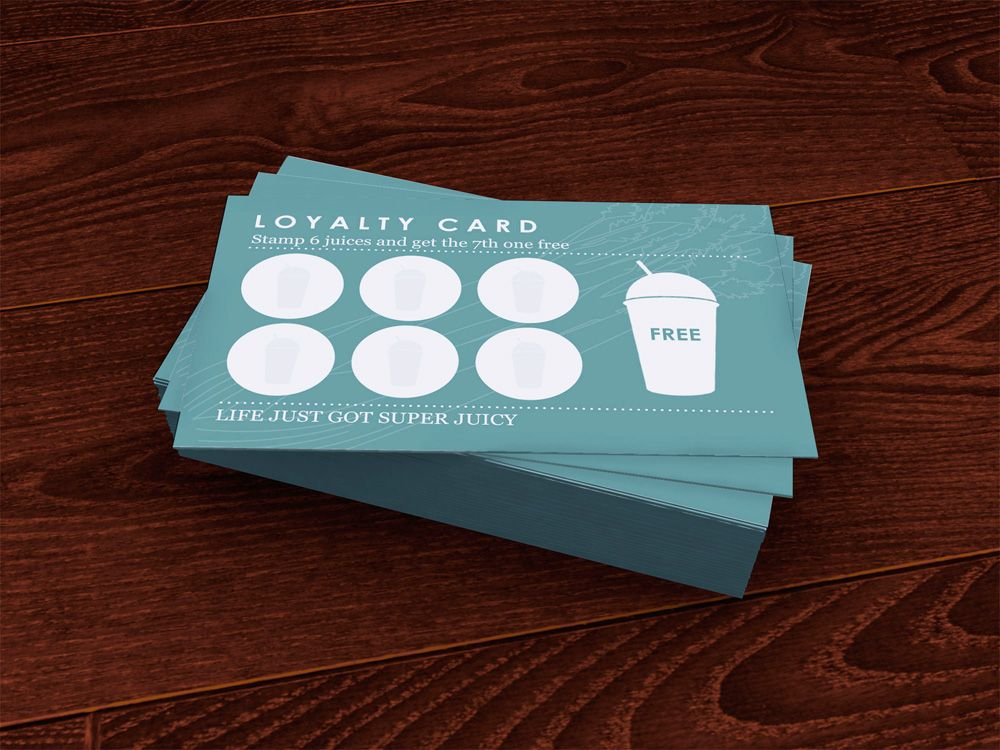 loyalty card design for the detox kitchen, card design, graphic ...