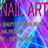 PREMIUM Quality Nail Art Decals, UV Gel Nail Art Accessories, Unique Nail Art, Gothic Nail Art, Custom Designs. THE BEST OR YOUR MONEY BACK! 100% Satisfaction