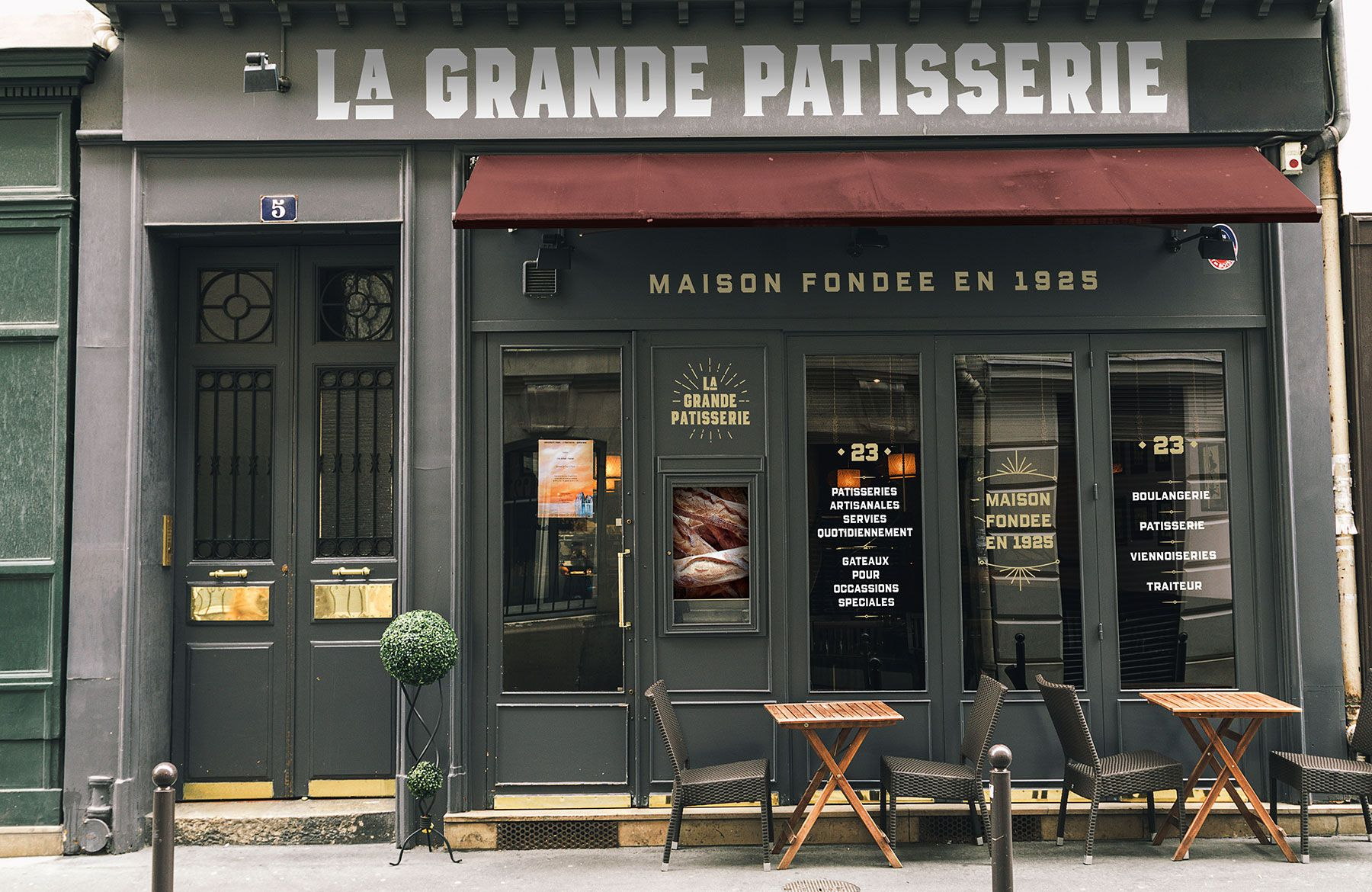 Create An Authentic Parisian Storefront With Illustrator And Photoshop Restaurant Facade Facade Storefront Design